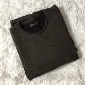 TASSO ELBA Crewneck T-Shirt Brown Size L
